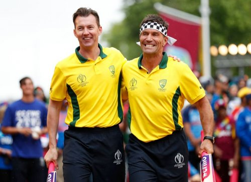 Brett Lee and Pat Cash, Opening Party - ICC Cricket World Cup 2019